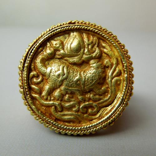Anello in oro birmano