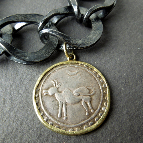 Antique Burma coin bracelet